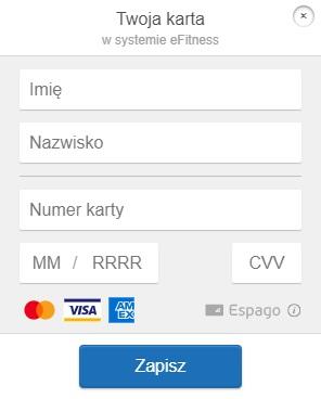 Formularz rejestracji karty klienta
